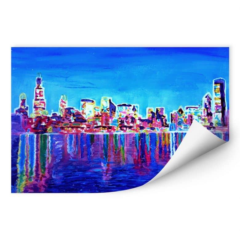 Wallprint W - Bleichner - Chicago im Neonschimmer