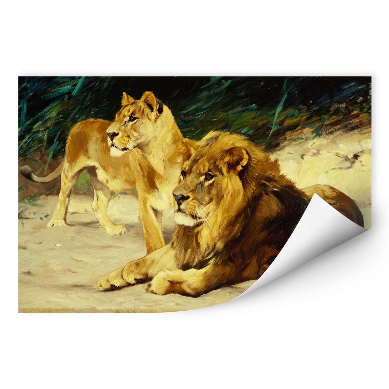 Wallprint W - Kuhnert - Löwenpaar