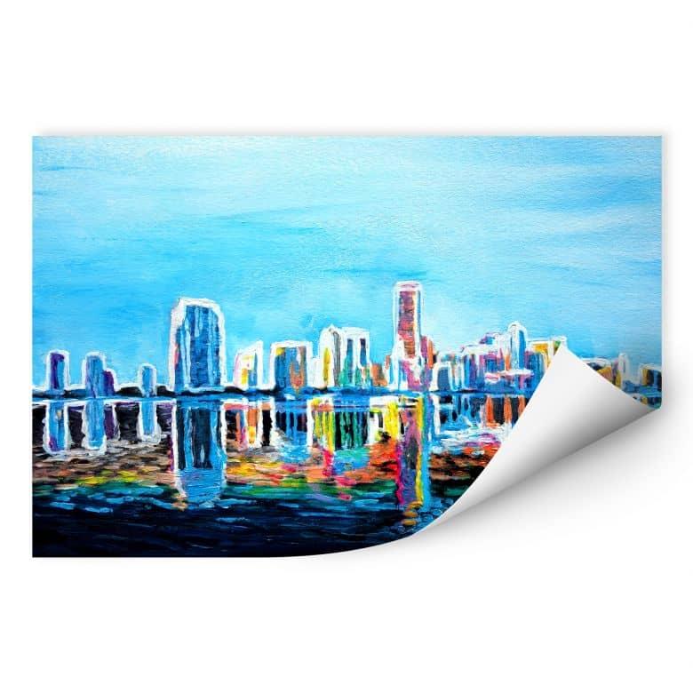 Wallprint W - Bleichner - Miami im Neonschimmer