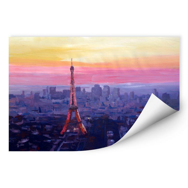 Wallprint W - Bleichner - Pariser Eiffelturm in der Abenddämmerung
