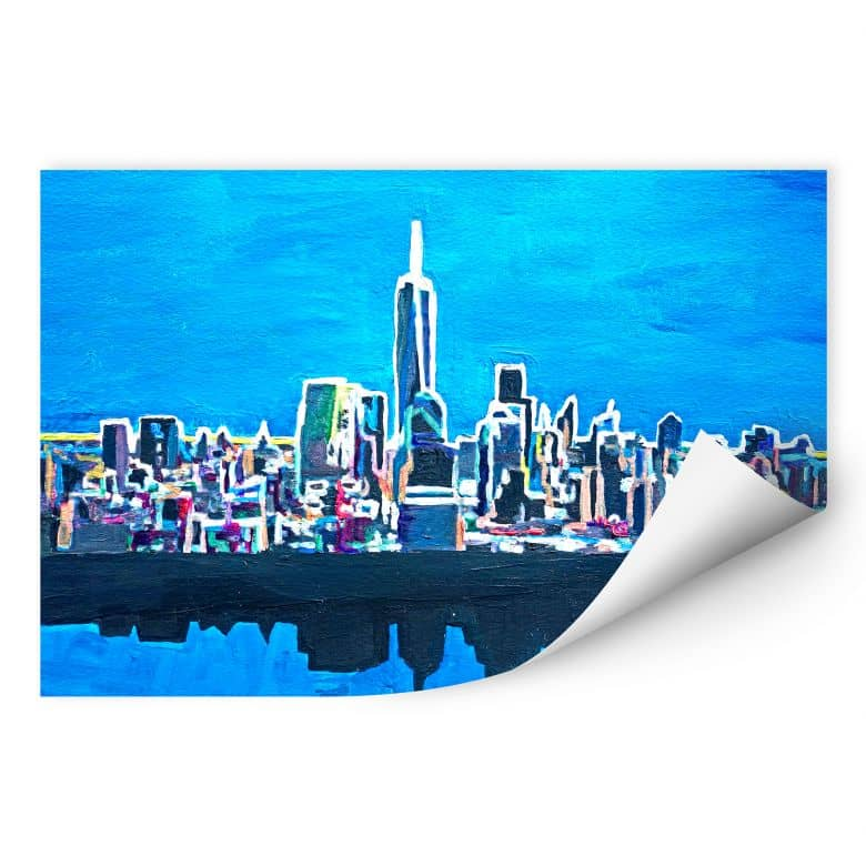 Wallprint W - Bleichner - New York City im Neonschimmer