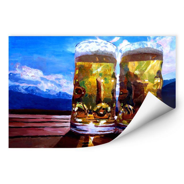 Wallprint W - Bleichner - Zwei Bier in den Bergen
