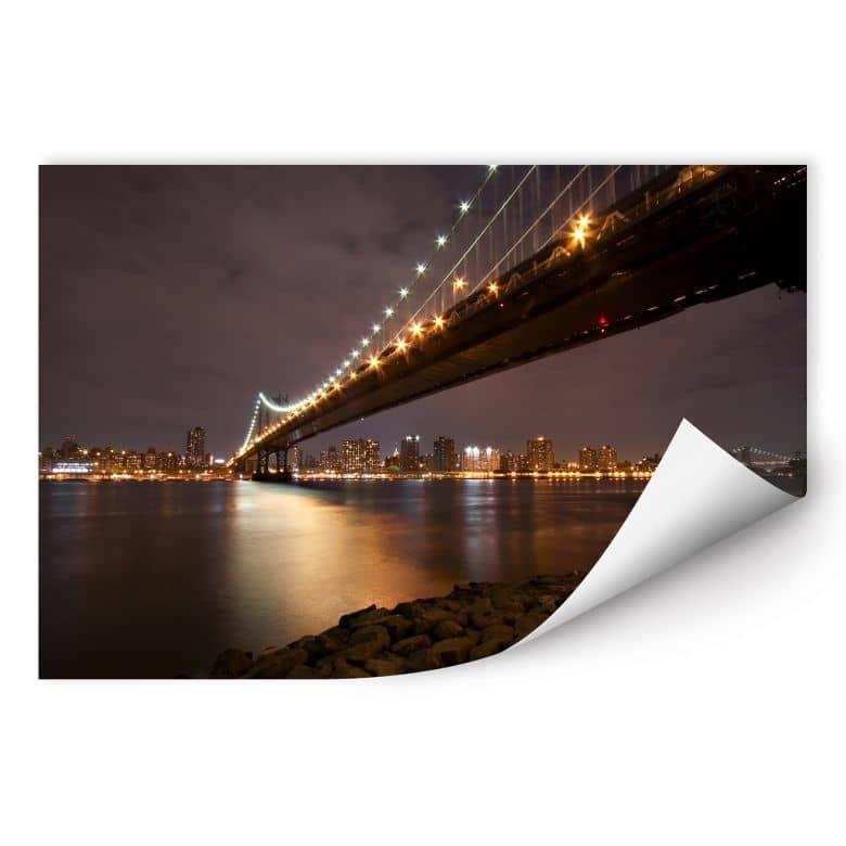 Wallprint W - Manhattan Bridge at Night