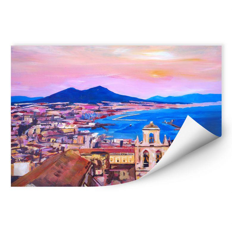 Wallprint Bleichner - Naples with Mount Vesuvio