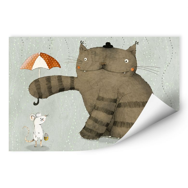 Wallprint Loske - Regenschirm