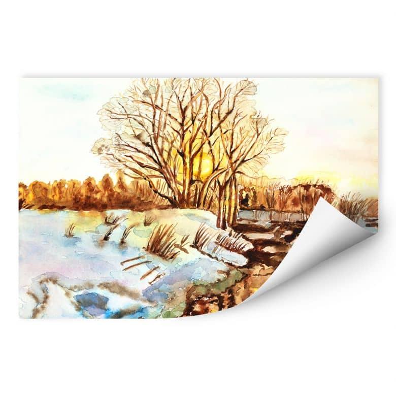 Wallprint Toetzke - Goldener Winter