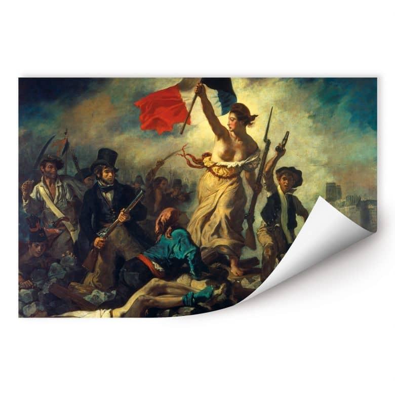 Wallprint Delacroix - Die Freiheit führt das Volk