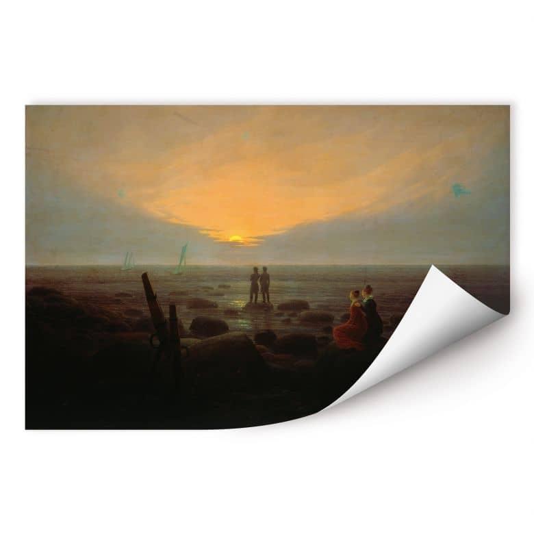 Wallprint Friedrich - Mondaufgang über dem Meer