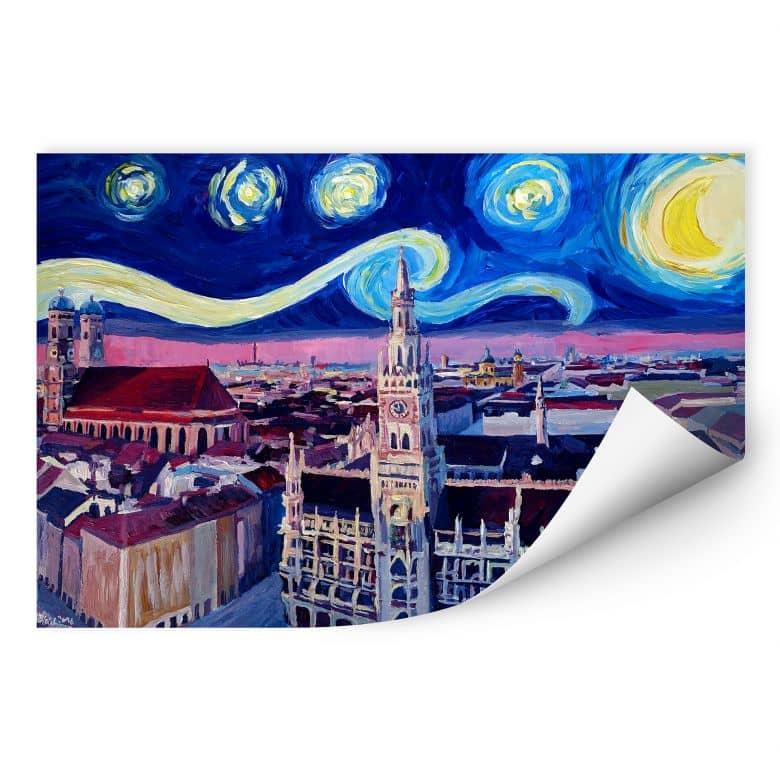 Wallprint Bleichner - München bei Nacht