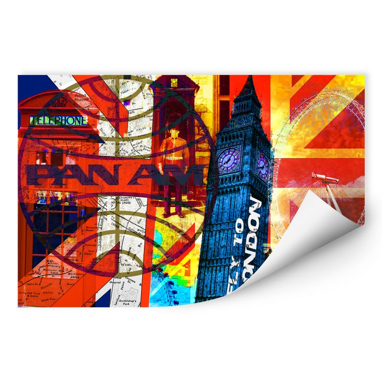 Wallprint PAN AM - London