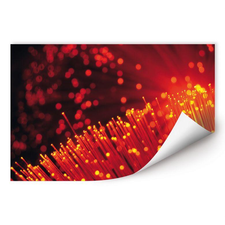 Wallprint W - Lichtfasern abstrakt