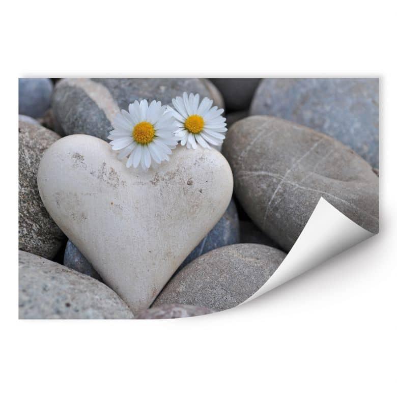 Poster autocollant - W - Fleurs d'Amour