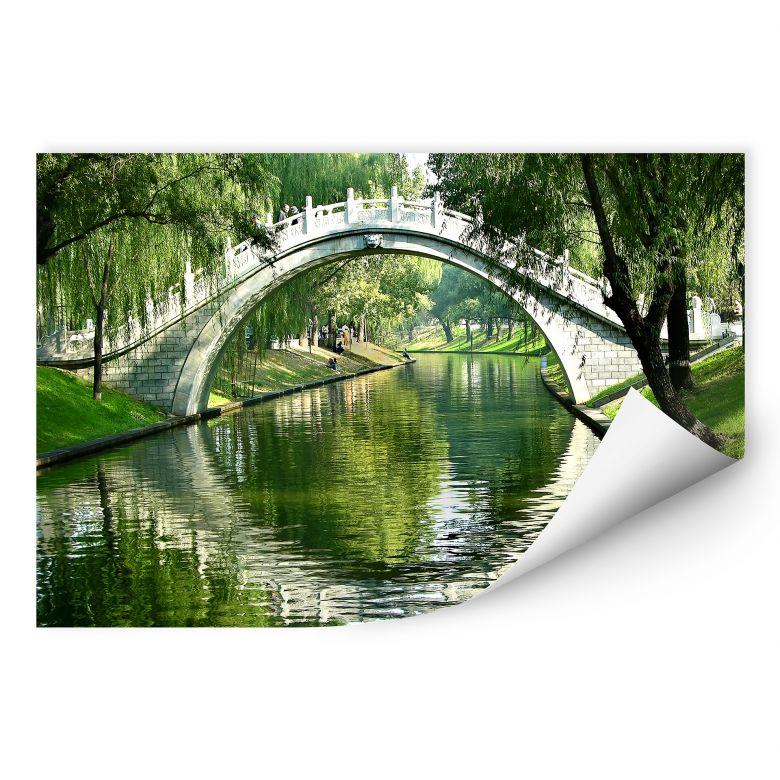 Wallprint W - Brücke am Fluss