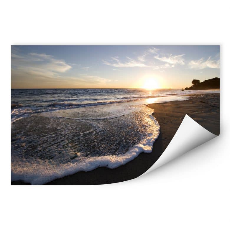 Wallprint W - Sonnenuntergang am Meer
