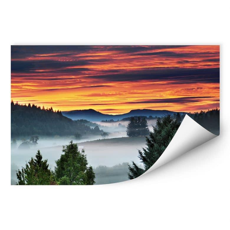 Wallprint W - Nebel in den Bergen