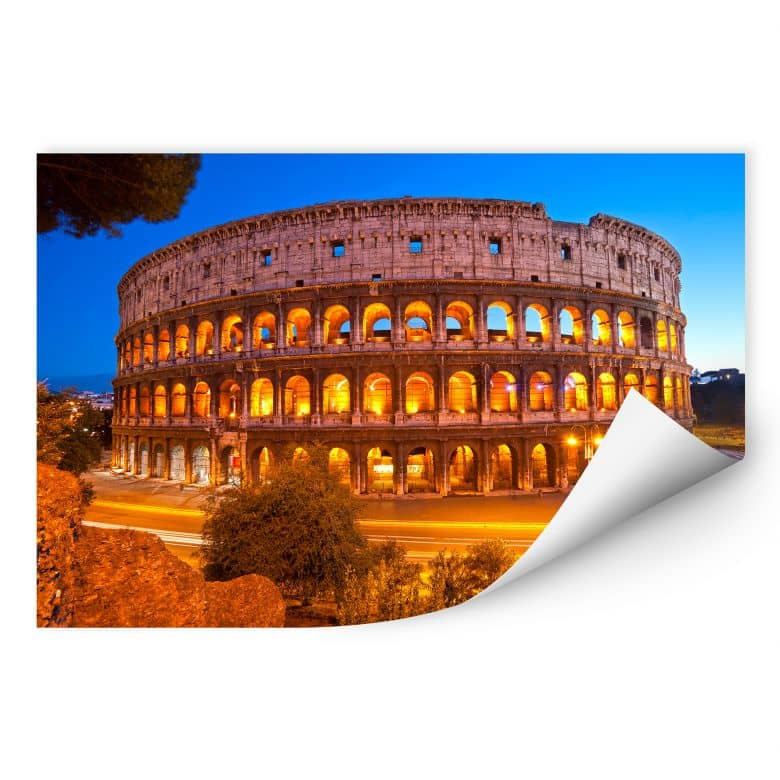 Wallprint W - Colosseum bei Nacht