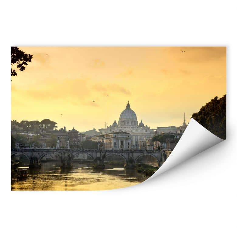 Wallprint W - Engelsbrücke mit Petersdom