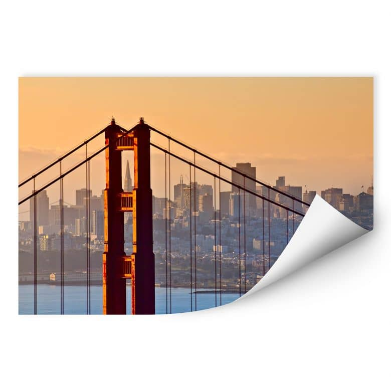 Wallprint W - Sundown over San Francisco