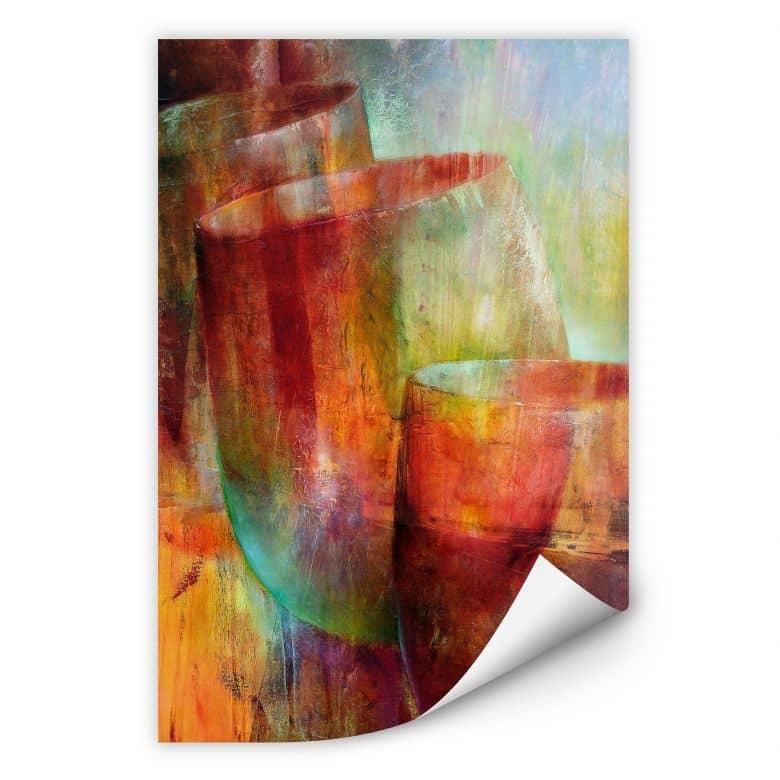 Wallprint Schmucker - Zwei Gläser