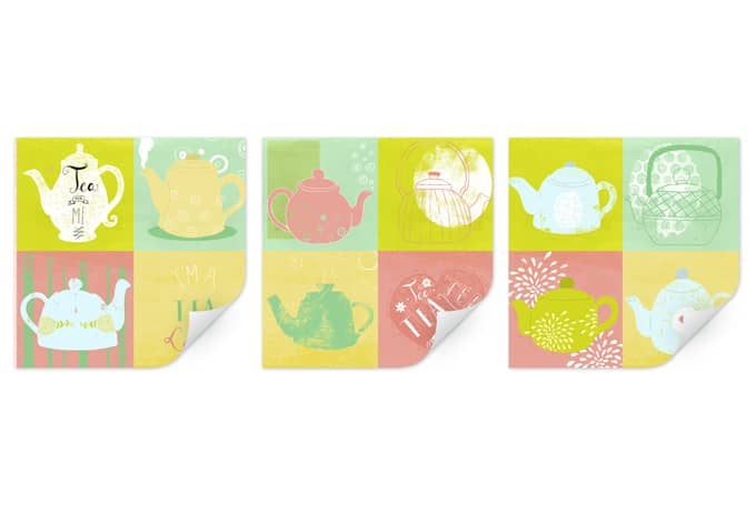 Wallprint Loske - Tea Time (3-teilig)