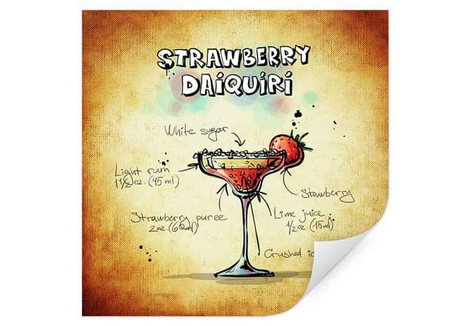 Wallprint Strawberry Daiquiri - quadratisch