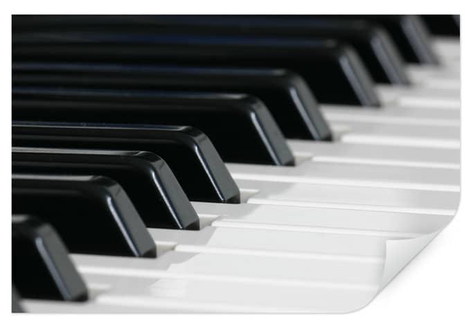 Wandbild mit piano klaviatur zum aufkleben wall - Klavier fliesen ...