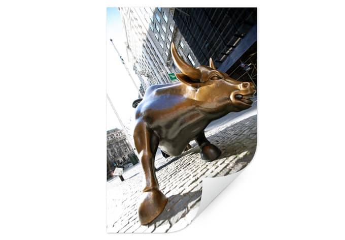 Wallprint W - The Charging Bull