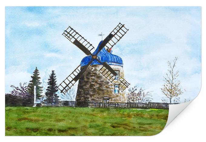 Wallprint Toetzke - Traditionelle Windmühle