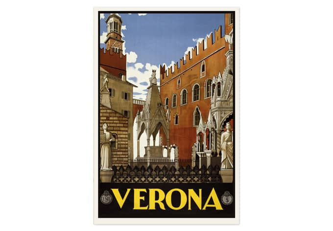 Wallprint Vintage Travel - Verona