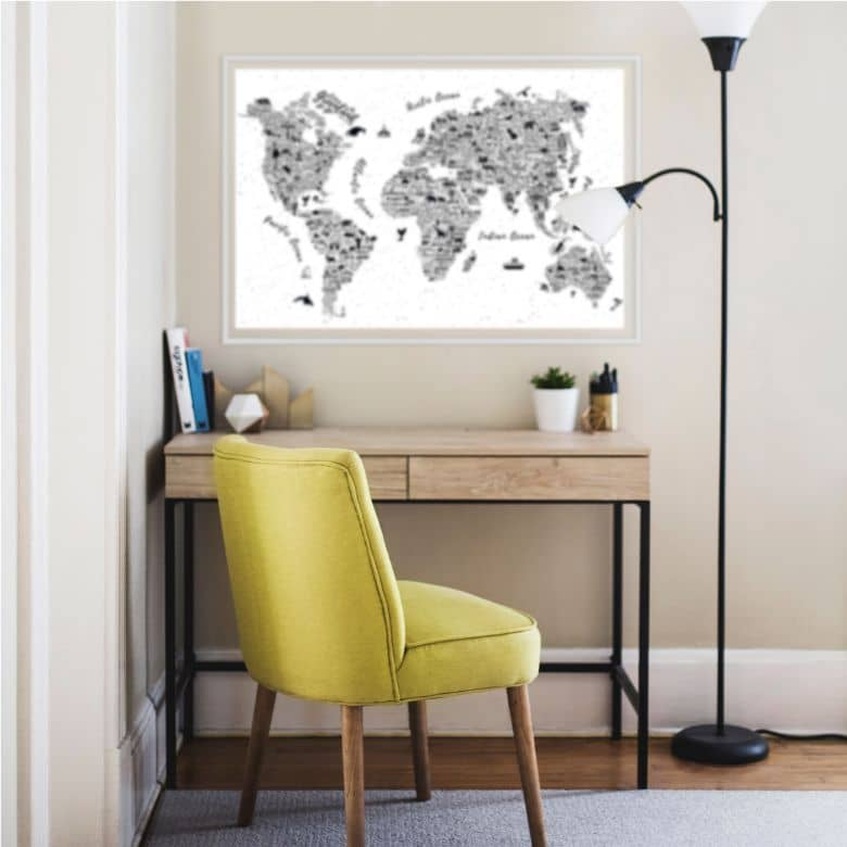 Wallprint Weltkarte - Around the world