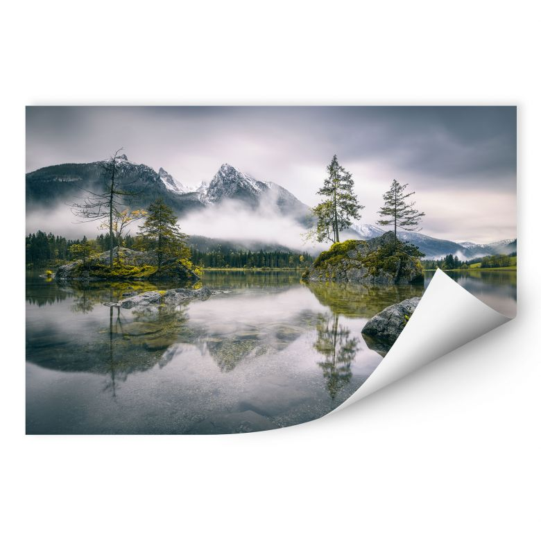 Zelfklevende Poster Wiemer - Foggy Lake