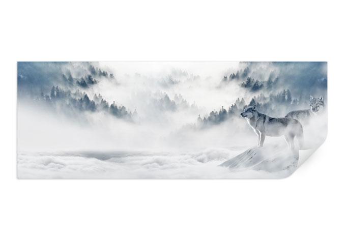 Wallprint - Wölfe im Schnee - Panorama