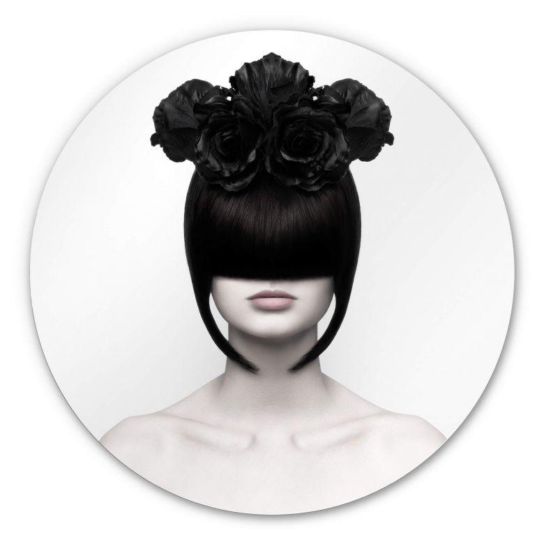Alu-Dibond Nemcekova - Black Widow - Rund