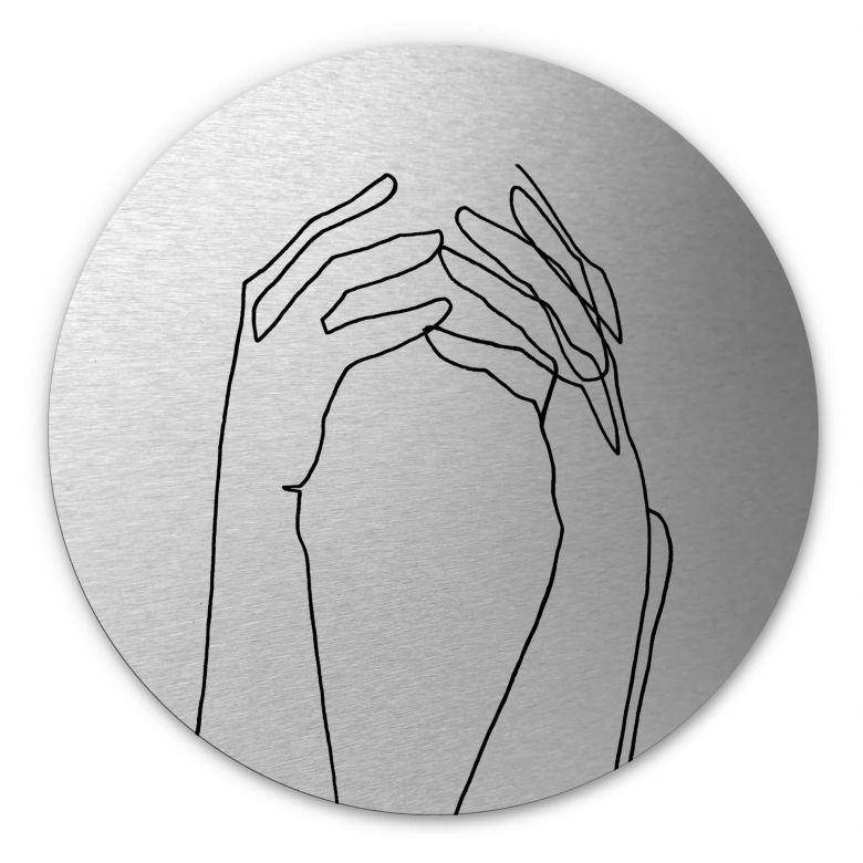 Wandcirkel met zilver effect Hariri - Desperate