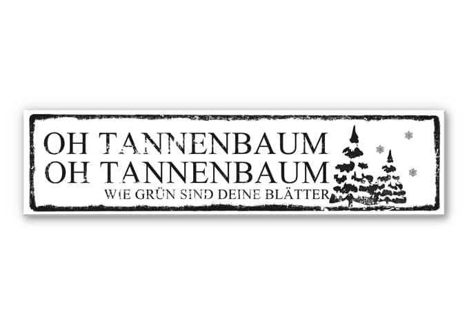 Wandbild Oh Tannenbaum...  inkl. 8 Klebepads