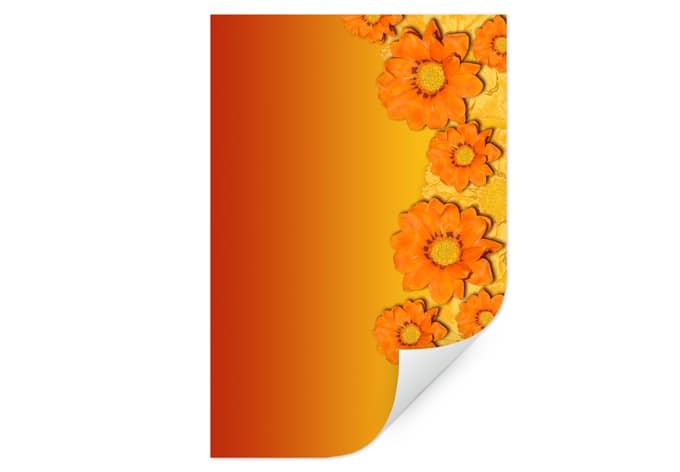 Wallprint W - Orange Flowers