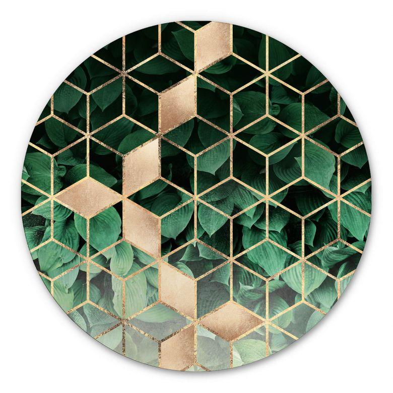Alu-Dibond Frederiksson - Nature meets geometry - round