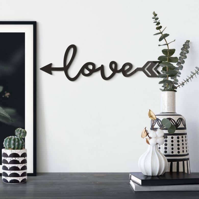 Acrylic Letters Love Arrow