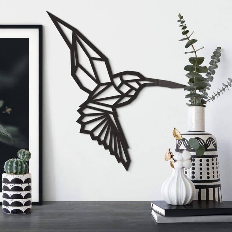 Origami Hummingbird – acrylic