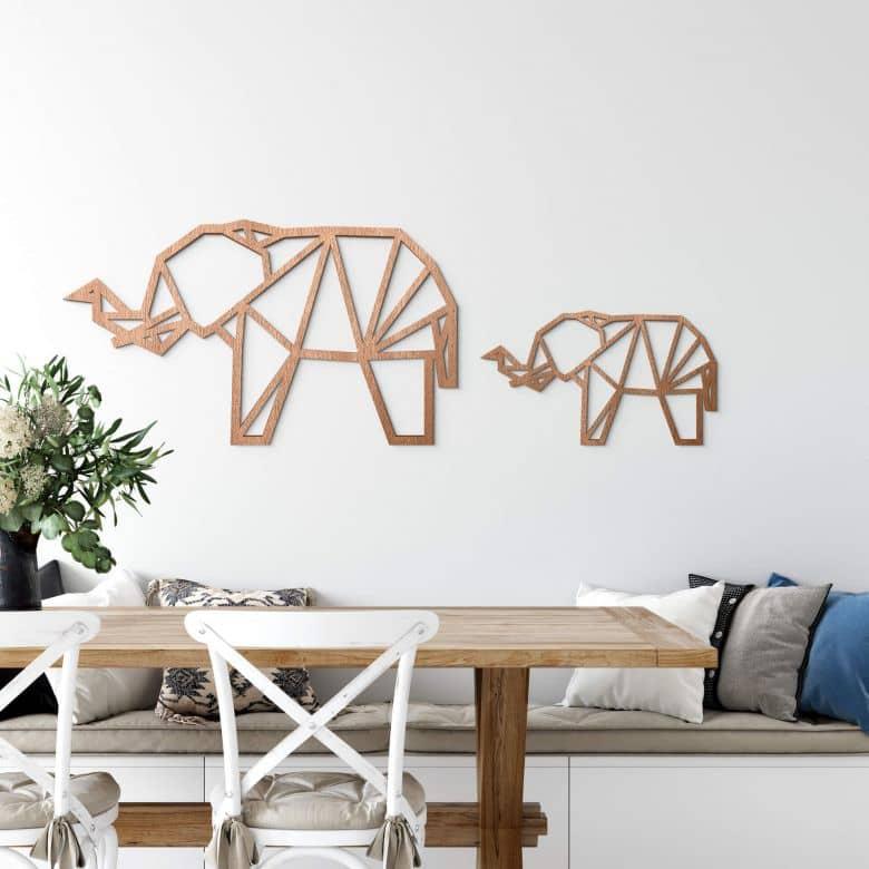 Wooden Elephant – mahogany