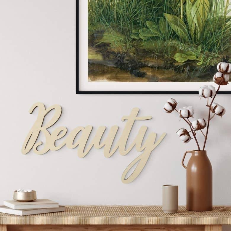 Lettere di legno - Beauty