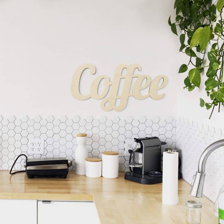 Coffee Wooden Letters