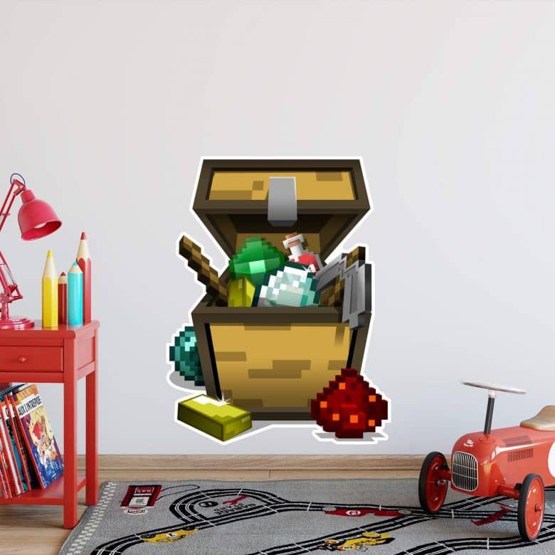 Wandsticker Minecraft - Open Minechest