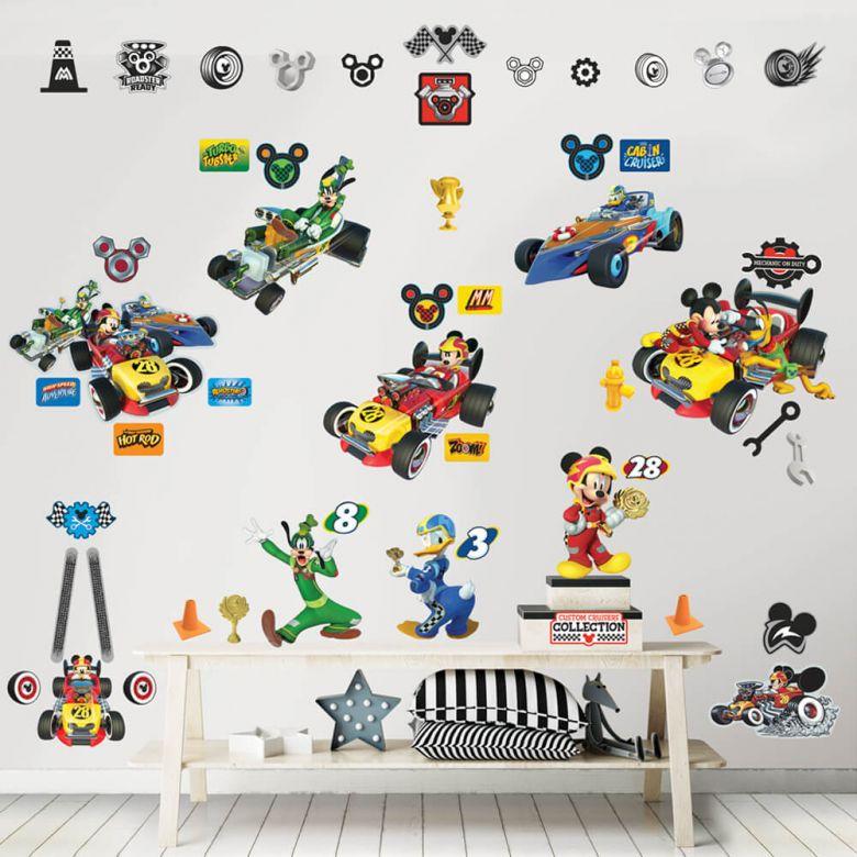 Wandsticker-Set Disney Micky und die flinken Flitzer 74-tlg.