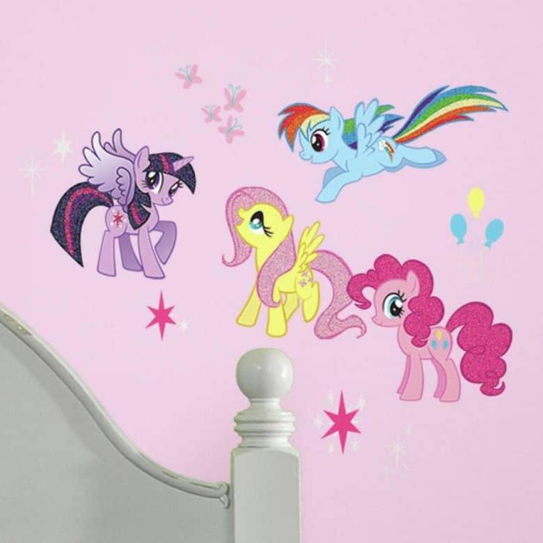 Muurstickerset My Little Pony glitters (31-delig)