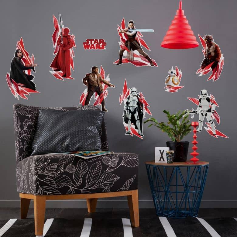 "Sticker murale -Star Wars ""L'ultimo Jedi"" 9 pezzi"