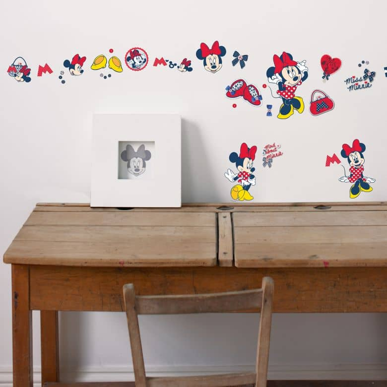 Muursticker Set XL Minnie Mouse