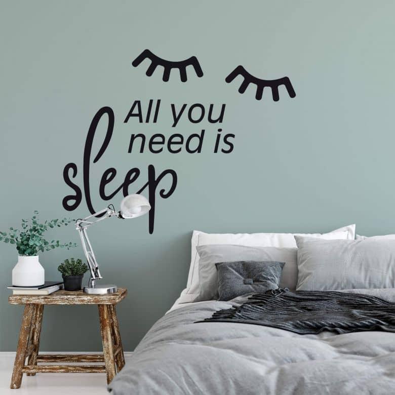 Wandtattoo All you need is sleep