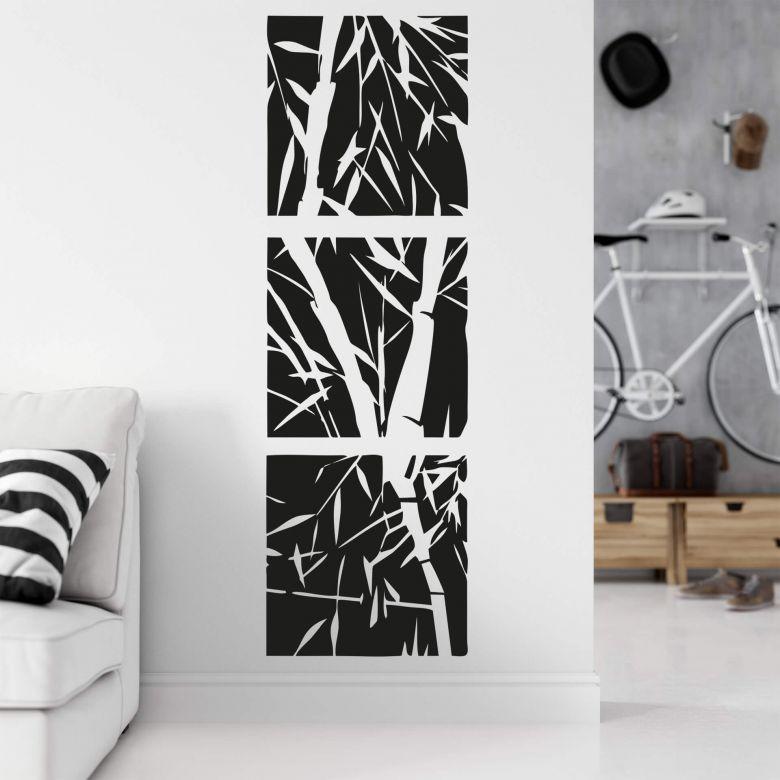 Adesivo murale - Bamboo set
