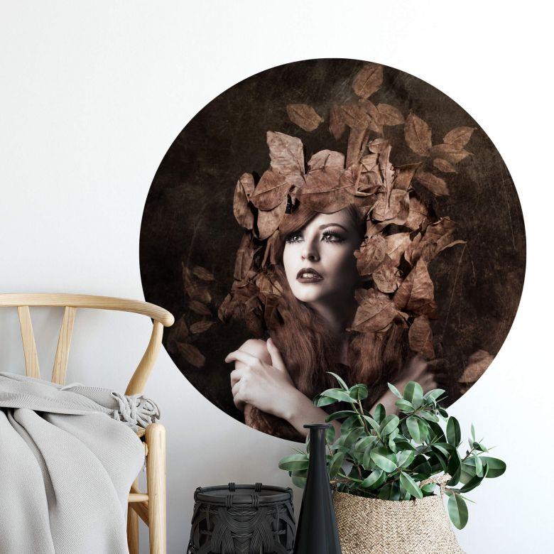Wall sticker round - Artemis daughter of Zeus